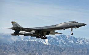 aircraft, military aircraft, Rockwell B, 1 Lancer, Bomber, strategic bomber