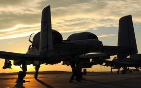 military aircraft, aircraft, Fairchild A, 10 Thunderbolt II, dual monitors, multiple display