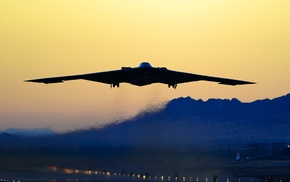 strategic bomber, Northrop Grumman B, 2 Spirit, Bomber, take, off