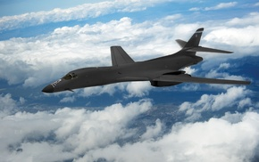 Rockwell B, 1 Lancer, aircraft, military aircraft, clouds, strategic bomber