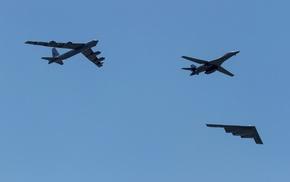 military aircraft, strategic bomber, Rockwell B, 1 Lancer, Bomber, Boeing B