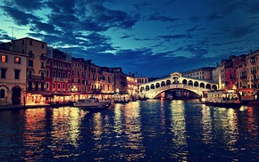 house, landscape, city, Venice, water, building
