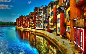 landscape, water, building, house, colorful, city