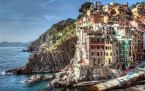 water, house, city, landscape, Italy, building