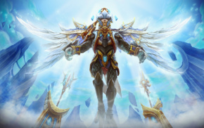 Skywrath Mage, video games, armor, angel, Dota, Valve