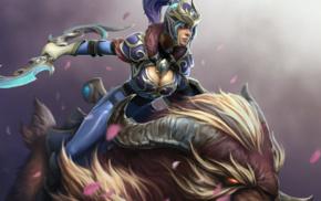 armor, Luna, Dota 2, Dota, fantasy art, hero