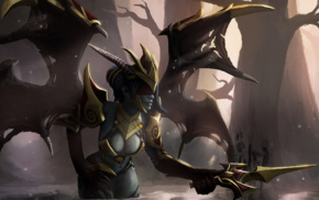 Defense of the ancient, wings, Queen of Pain, Valve Corporation, Dota 2, Valve