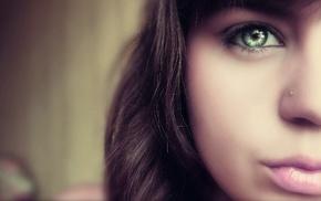 girl, eyes, face