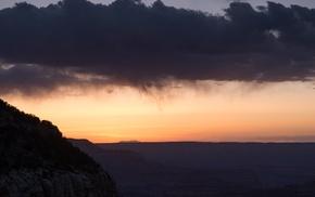 photography, clouds, dusk, landscape, canyon, nature