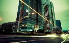 skyscraper, urban, building, highway, photography, city