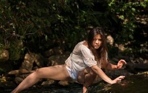 Audrey Pankovna, girl, model, brunette, Audrey, girl outdoors