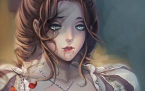 fantasy art, vampires, girl, artwork