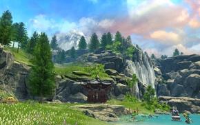 massively multiplayer, online, martial arts, Blade  Soul, Korean, fantasy art