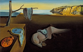 Salvador Dal, classic art, melting, clocks, surreal, landscape