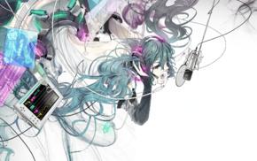 Hatsune Miku, Vocaloid, headphones