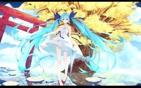 Hatsune Miku, twintails, dress, Vocaloid