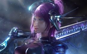 artwork, fantasy art, girl, warrior