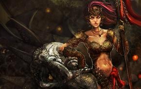artwork, fantasy art, warrior