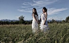 girl, field, girl outdoors, model, nature
