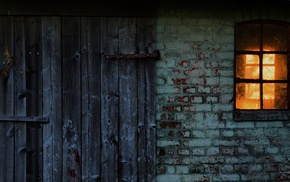 house, window, bricks, door