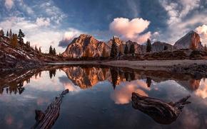 Lago di Limedes, mountains, Italy, reflection