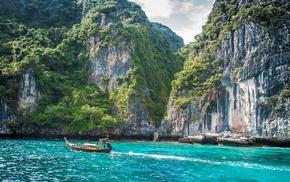 Thailand, boat, Phi Phi Islands
