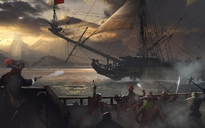 fantasy art, pirates, artwork