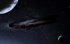 artwork, Uchuu Senkan Yamato 2199, science fiction, spaceship