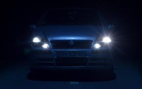 car, night, FIAT