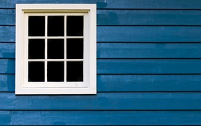 square, planks, blue, lines, wall, window