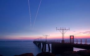 long exposure, coast, photography, dusk, water, pier