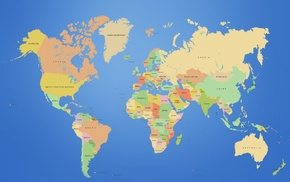 continents, world map, map
