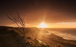 water, photography, sunset, landscape, nature, coast