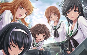 anime, Isuzu Hana, Akiyama Yukari, Reizei Mako, Girls und Panzer, Nishizumi Miho