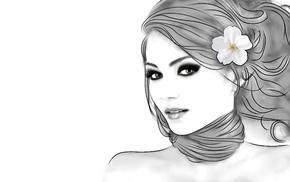 face, girl, photo manipulation