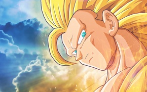 saiyayin, Dragon Ball, Son Goku, Dragon Ball Z, yellow