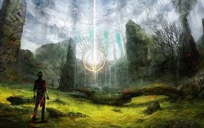 landscape, artwork, magic, fantasy art