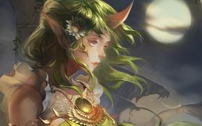 Soraka, Moon, League of Legends, artwork, fantasy art