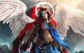fantasy art, warrior, angel, artwork