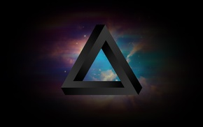 Penrose triangle, abstract