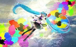 thigh, highs, Vocaloid, Hatsune Miku