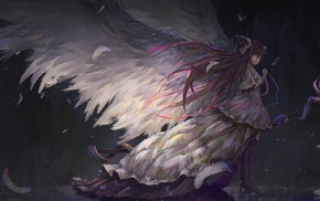 wings, Kaname Madoka, Mahou Shoujo Madoka Magica, anime girls