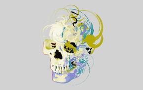 digital art, skull