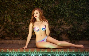 Holland Roden, model, girl, swimming pool