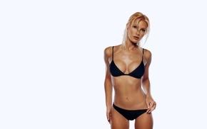 white, girl, the gap, black bikinis, bikini, Caprice Bourrett