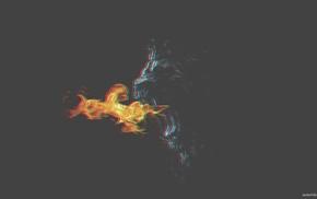 lion, 3D, fire