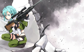 Asada Shino, Sword Art Online, anime girls, anime