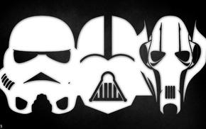 Star Wars, Darth Vader, grievous, stormtrooper