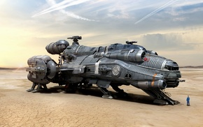 Star Citizen, video games, digital art, science fiction, futuristic, Hull C