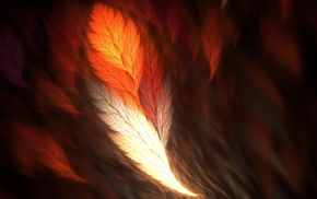 fractal, abstract, feathers